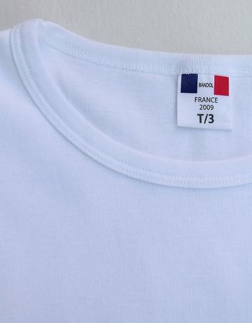 Bandol 1X1 Rib Short Sleeve Military Crew WHITE (2)