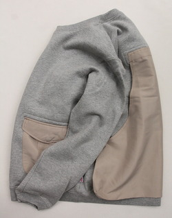 Chums Utility Pocket Crew Top Sweat H GREY (3)