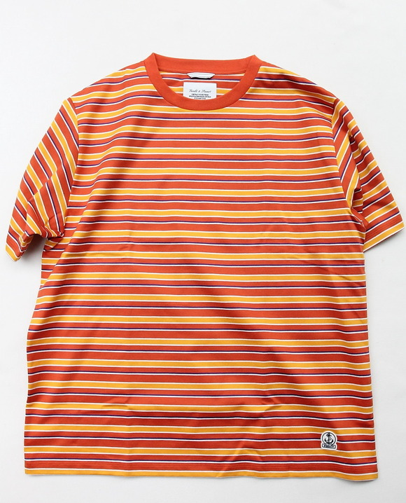 FIDELITEY Multi Border SS Tee ORANGE