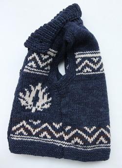 Leciel de Harriss Hand Knit Vest NAVY (4)