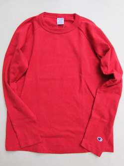 Champion T1011 Raglan Long Sleeve Tee RED