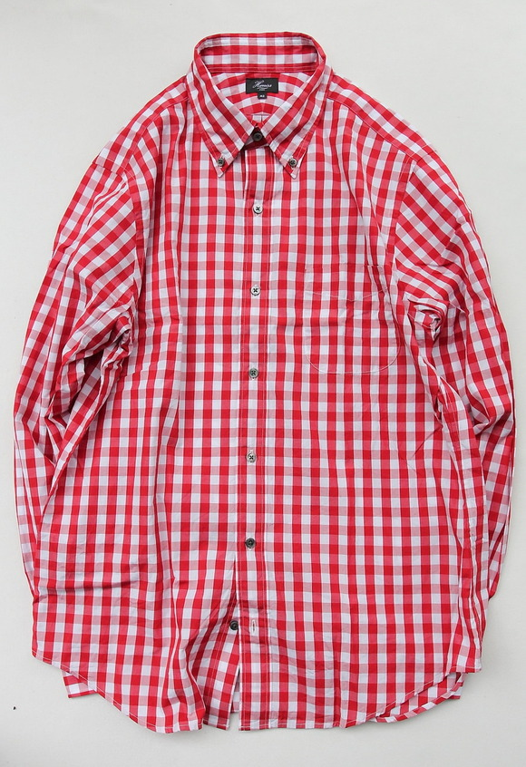 Harriss Big Gingham LS BD RED
