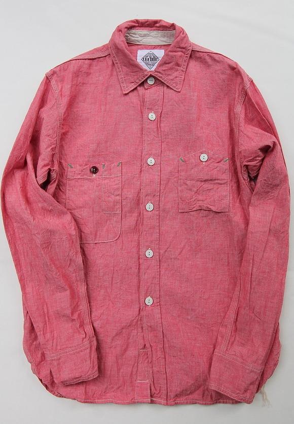 Fob Chambrey Work Shirt RED