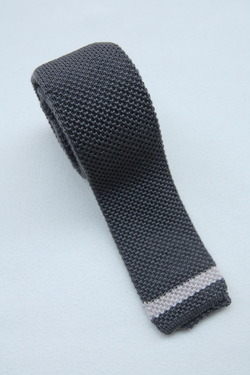 GUILLAUMOND CREATIONS Lined Tie GREY