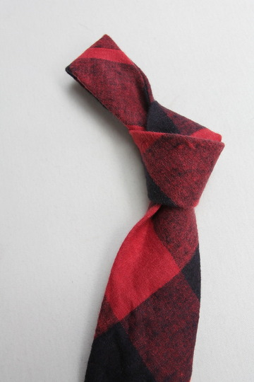 CANDIDUM Big Check Tie RED X BLACK (4)