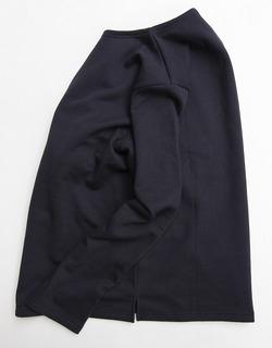 Quotidien Cotton Fleece Boatneck NAVY (2)