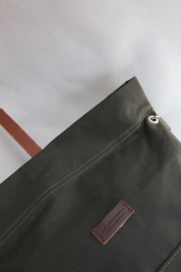 HERITAGE LEATHER Co Travel Pouch 10 10 ARMY Duck OLIVE (5)