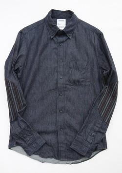Your Uniform 6oz Denime BD Shirt Elbow Patch INDIGO