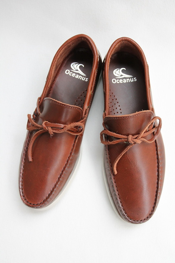OCEANUS Leather Washed Shoes CAGNAK