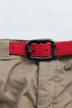 TRIPLE 1Plain Nylon Web Belt RED (2)