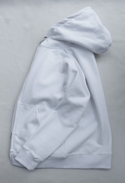 Arbre HW Cotton Fleece Zip up Sweat Parka WHITE (4)