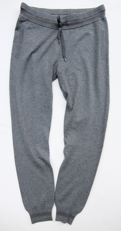 YaYa Wool Sweat Pants DARK GREY MELANGE (6)