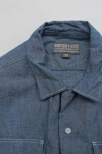 EMPIRE & SONS LS Camp Shirt Chambray BLUE (2)