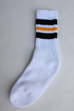 STRIP Crew Socks 9-11 BLACK & GOLD (3)