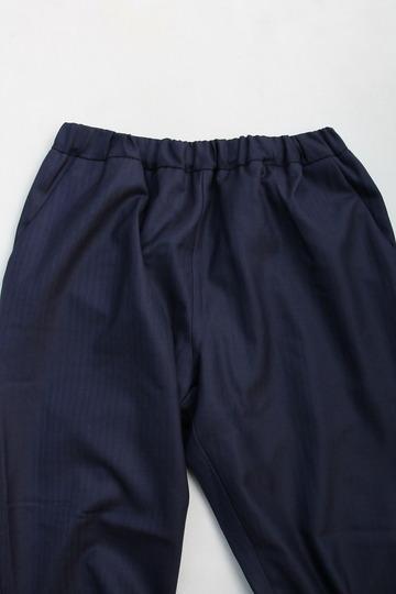 CESTERS Wool Herringbone  No Pleats Easy Trousers NAVY (3)