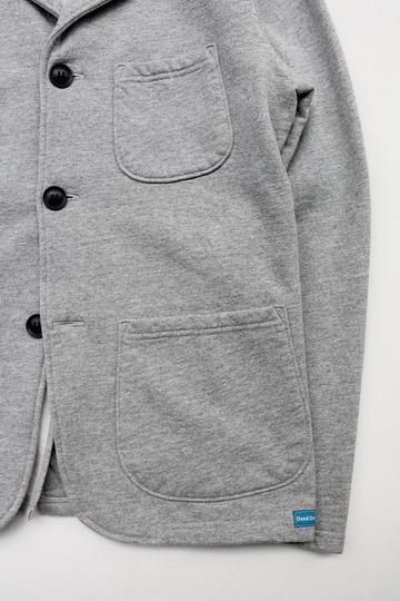 Goodon 9oz Cotton Fleece 3 Button Blazer H GREY (3)
