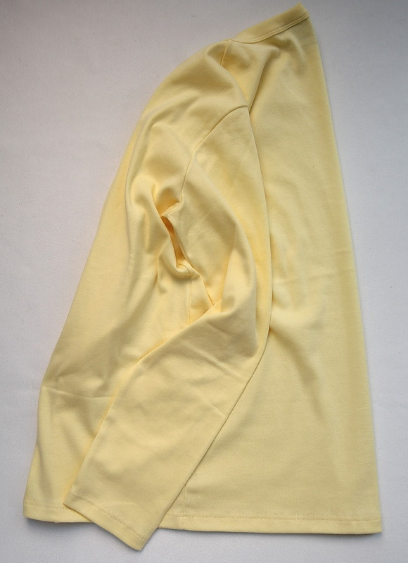 Quotidien 1X1 Rib Vneck Cardigan YELLOW (2)