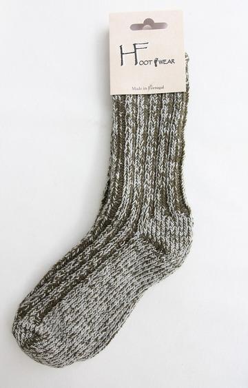 H Footwear Rib Socks OLIVE