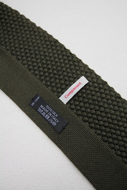 Component Silk Knit Tie Wide OLIVE (2)