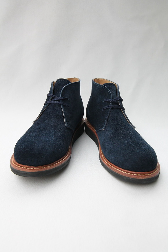 Laborer Shoes Postman Chukka NAVY Suede (3)