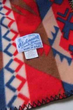Rockmount Ranchwear Flease Muffler BLUE & CORAL NATIVE (3)