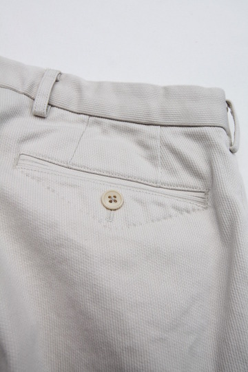 DC WHITE Pique Basic Pants IVORY (6)