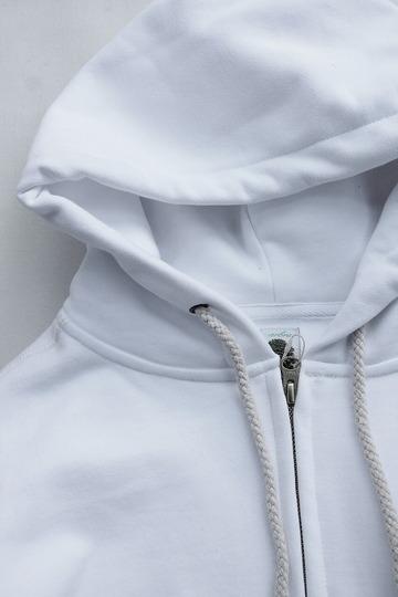 Arbre HW Cotton Fleece Zip up Sweat Parka WHITE (2)