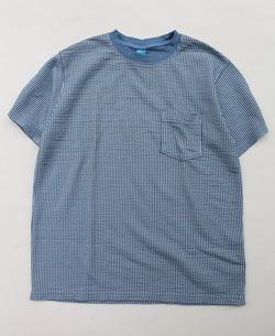 Goodon SS Seersucker Pocket Tee SMOKY BLUE