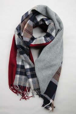 Glen Prince 100% Lambswool Patchwork Stole COL 3