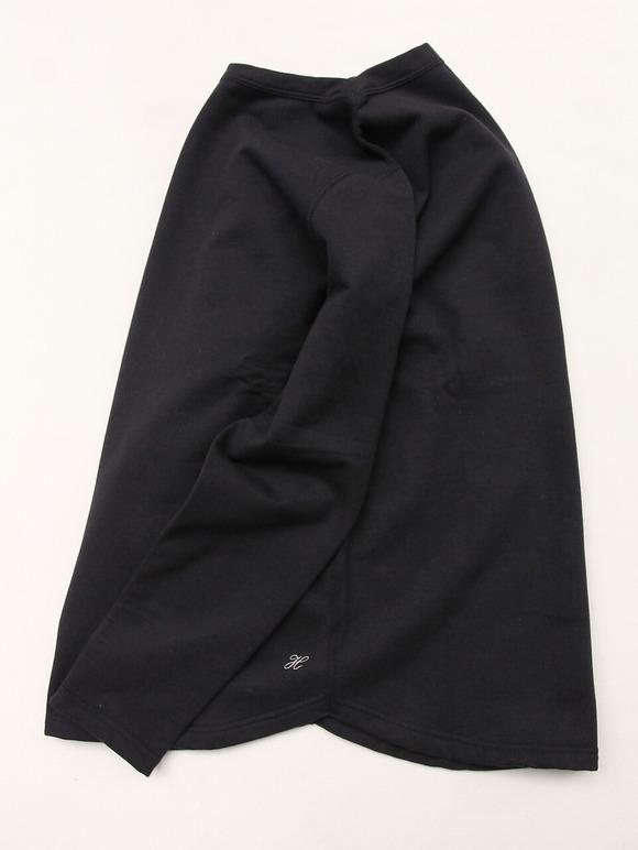 Harriss Cotton Bind Boat Neck SW Shirt NAVY (4)