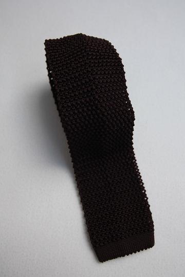 Component Silk Knit Tie BURGUNDY