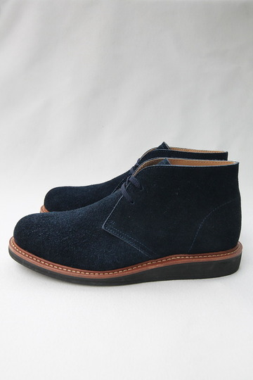Laborer Shoes Postman Chukka NAVY Suede (4)