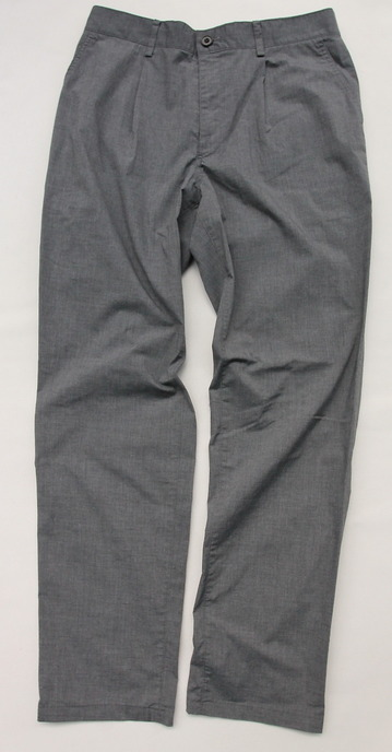 Vincent et Mireille 1 Tuck Pants TC Stretch GRAY (3)