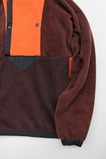 coochucamp Happy Pullover Fleece BROWN ORANGE (3)