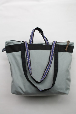 Back Products Zip Tote Small Nylon GREY