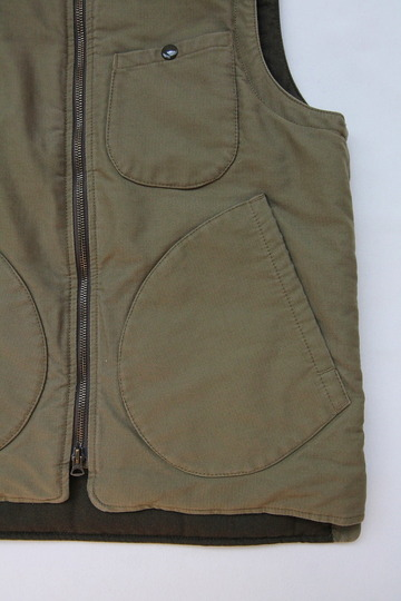 Keaton Chase Military Deck Vest Bedford Cloth OLIVE (3)