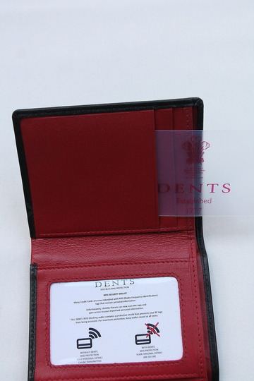 DENTS 5527 Tri Fold BLACK & BERRY (4)