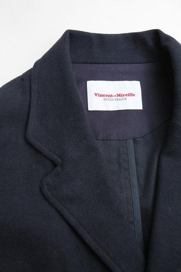 Vincent et Mireille Tailored Jacket Cotton Moleskin NAVY