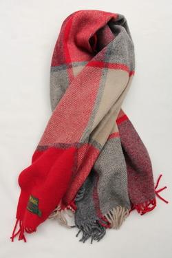 Tweed Mill Knee Rug RED & SLATE