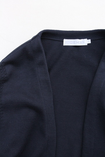 RICEMAN Knit Cardigan Button Less Loosefit NAVY (2)