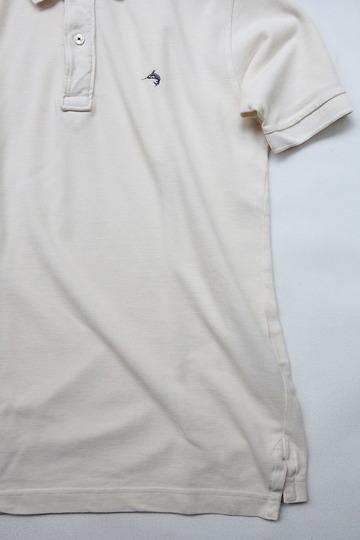 Praivate Lives Cotton Pique Polo Vintage Look ECRU (4)