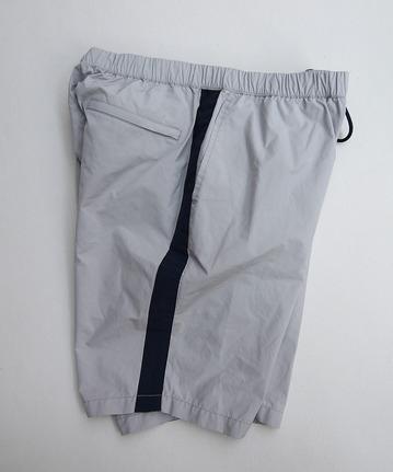 MIDA Nylon Shorts with Linner GREY X NAVY (2)