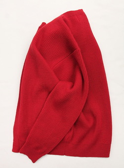 Vincent et Mireille 8 GG Aze Crew Neck Cardigan RED (5)