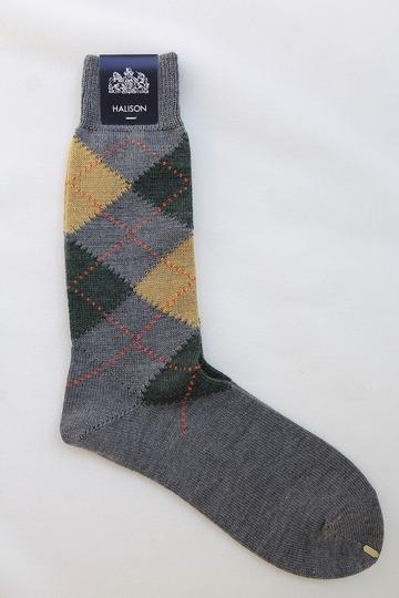 HALISON NZ Merino Arhyle Socks 5 Diamond GREY (3)