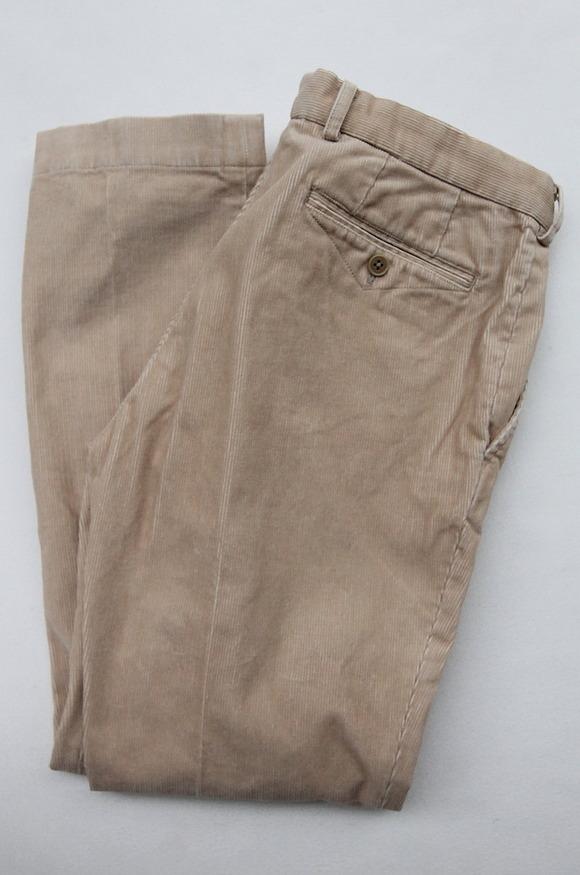 DC WHITE Corduroy Basic Pants BEIGE