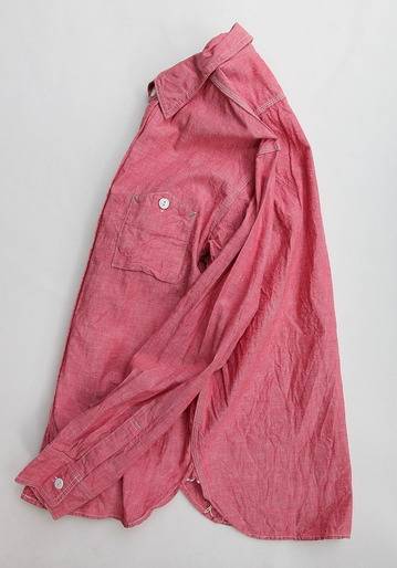 FOB Chambray Work Shirt RED (5)