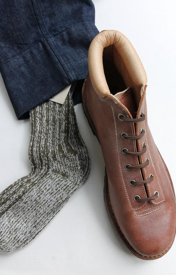 H Footwear Rib Socks OLIVE (3)