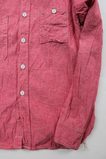 Fob Chambrey Work Shirt RED (6)