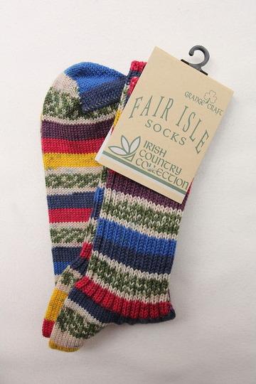 GRANGE CRAFT Fair Isle Socks No 4 (2)