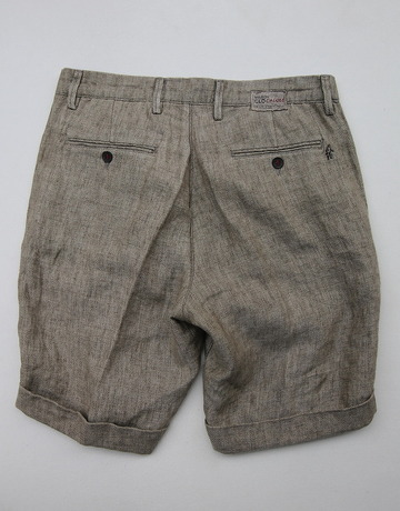 Maison Clochard Mallard Short BROWN (3)